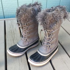 Sorel Joan Of Arctic Snow Boots Tall Lace Up Fur